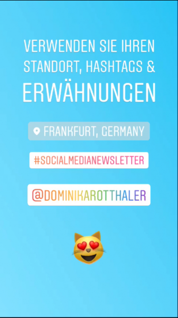 Machen Sie Insta Stories (